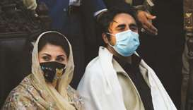 POWER SHOW: PML-N vice-president Maryam Nawaz (left), and PPP chairman Bilawal Bhutto-Zardari during