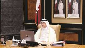 Qatar was represented in the meeting by HE the Minister of Justice and Acting Minister of State for