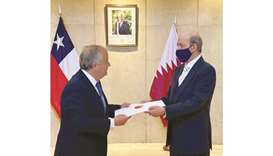 Chile's ambassador to Argentina, Nicolas Monckeberg, has received a copy of the credentials of Qatar