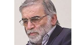 Prominent Iranian scientist Mohsen Fakhrizadeh is seen in this undated photo.