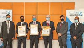 Officials with the certification under the ISO 9001:2015, ISO 14001:2015 and ISO 45001:2018 standard