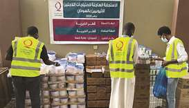 Qatar Charity's field teams have distributed urgent shelter aid to the refugees going through challe
