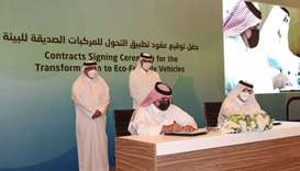 HE Prime Minister witnessed the signing of contracts to purchase World Cup buses, as well as the ser