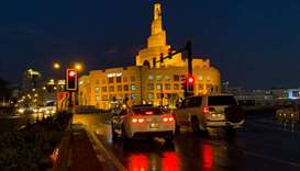 The rain-swept Souq Waqif and surrounding areas on Sunday evening. PICTURES: Noushad Thekkayil