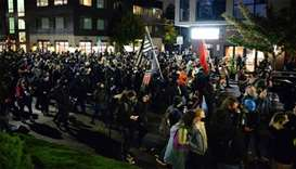 Police arrest 10 in Portland, 50 in New York on night after US vote
