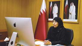 HE the Minister of Public Health Dr Hanan Mohamed al-Kuwari attended the meetings via videoconferenc