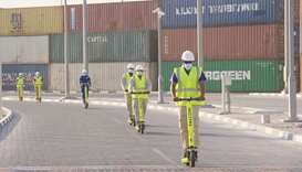Benefiting from a new CSR pilot programme with Falcon Scooters, employees at the GWC's Logistics Vil