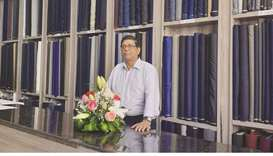 Nicolau C Rodrigue at the new shop in Al Mansora