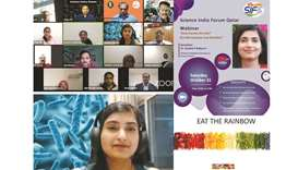 Participants in the 10th webinar of the Science India Forum Qatar (SIF-Q), which was conducted recen