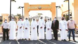 Officials at the opening of Lusail Park.
