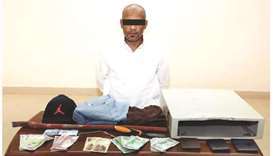 Man arrested for stealing from shops