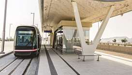 """We have started the technical tests of the Lusail Tram in Lusail City, and therefore we urge driver"