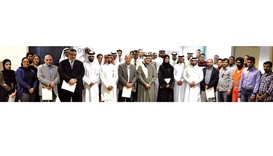 QPMC officials with staff and workers at the award ceremony.