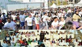 More than 5,000 people, including fitness enthusiasts, environmentalists and families have participa