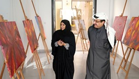 Qatari female artist's works go on show