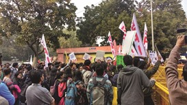Students protest after death of Dalit scholar