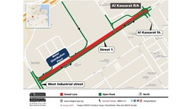 A partial closure will come into effect from today evening on Street 1 of Doha's Industrial Area for