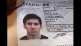 Screen grab taken from the Messi passport video
