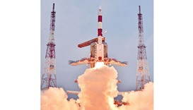 Indian Space Research Organisation's PSLV-C31 carrying IRNSS-1E lifts off from Satish Dhawan Space C