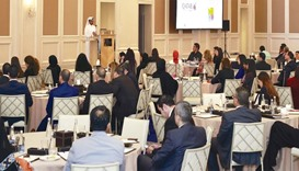 Participants attend the first QTA quarterly framework marketing summit in Doha.