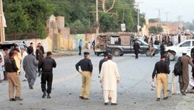 Security officials in Charsadda
