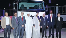 Dignitaries at the launch of the all-new Fuso trucks.
