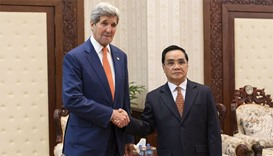 John Kerry in Laos