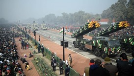 India marks Republic Day with a spectacle of military might