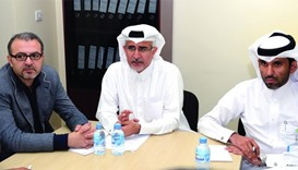 Dr. Khalid Abdulnoor Saifeldeen, flanked by other HMC officials, announce the CPR campaign.PICTURE:T