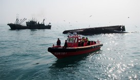 Chinese fishing boat capsized, five missing in South Korea
