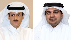 Sheikh Dr Khalid and al-Shaibei: Active support to Qatar's economy.