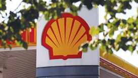 A logo is seen at a Royal Dutch Shell gas station in south London. More than 83% of Shell shareholde