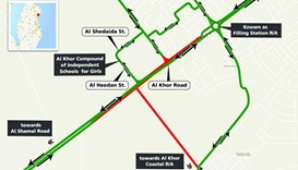 Newly built stretch of road opens near Al Khor