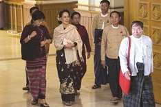 Suu Kyi braces for power as her party comes to parliament