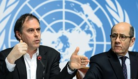 UN High Commissioner for Human Rights spokesman Rupert Colville (left) and interim director of the U