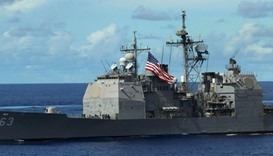 US warship sails by island claimed by China: Pentagon