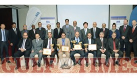 Recipients of the awards with Toyota and AAB officials: PICTURE: Thajuddin