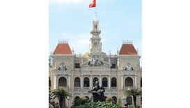 Ho Chi Minh City Hall in the French-built former Hotel de Ville de Saigon. Vietnam has gone a long w