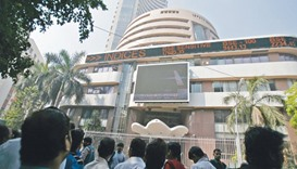 Sensex drops for first time in six days; rupee falls further