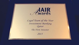 TFI took home the Legal Team of the Year — Investment Banking accolade during the IAIR Awards 2015.