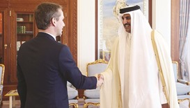 Emir meets Danish foreign minister