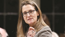 Freeland: banned from Russia.