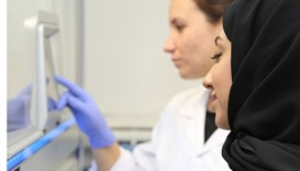 Some researchers working on the genome project