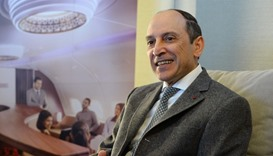 Chief Executive Officer of Qatar Airways, Akbar Al Baker at Paris Roissy airport