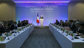 Delegates at the opening of the Mideast peace conference in Paris