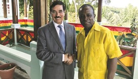 Al-Kuwari meets prime ministers of Grenada and Trinidad