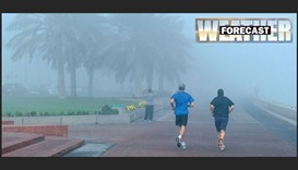 Foggy conditions forecast, temperature may rise