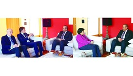 Sheikh Ahmed meets top officials in Davos