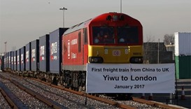 First freight train from China to Britain arrives in London