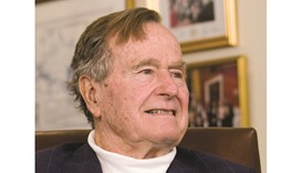 George H W Bush ... age woes
